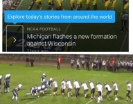 That crazy Michigan offensive set came from a Colorado high school