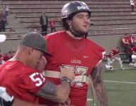 Watch a former Calif. football player's inspiring walk to coin flip after multiple brain surgeries