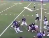 VIDEO: Cheshire Academy's Tarik Black scores on wild blocked extra point return