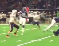 VIDEO: Watch Frisco Lone Star linebacker upend receiver with big hit