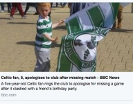 Scottish 5-year-old is soccer fan of the year, calls club to apologize for missing match