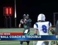 Ohio coach suspended for 2 playoff games, team on probation for 2 years for recruiting violation