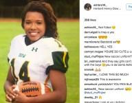 Star black female kicker mocked in racist Instagram post that includes gorilla suit
