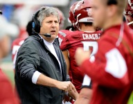 Washington State coach Mike Leach says support for Donald Trump has not impacted recruiting