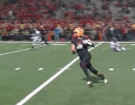 VIDEO: Mission Viejo (Calif.) linebacker Colin Schooler is just as dangerous on offense