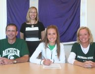 Lakeview's Farrell signs to run cross country at MSU