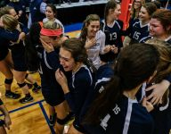 Class B volleyball final: North Branch tops Lake Odessa Lakewood