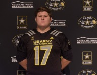 Oklahoma commit Creed Humphrey receives U.S. Army All-American jersey