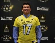 USC commit center Brett Neilon receives Army All-American Bowl jersey