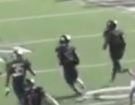 VIDEO: Watch this Texas pick six that goes for 104 yards
