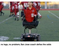 Assistant coach Rob Mendez has no arms or legs, is the soul of a NorCal football team