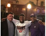 New LSU coach Orgeron is on the trail, visits top Miss. RB Cam Akers