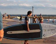 Local teen Tristan Ferrara stands tall on paddle board