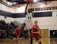 Marysville girls basketball runs by St. Clair