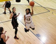 Port Huron Northern girls basketball runs by Port Huron