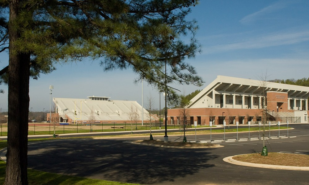 Lakewood Stadium will serve as a neutral site for a state semifinal between Westlake and Roswell (Photo: Manley Spangler Smith Architects screen shot)
