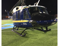 Virginia HS field becomes impromptu landing strip for an Air Force helicopter