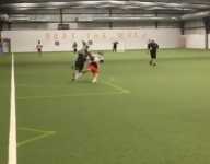 New Syracuse lax commit Seth Thornton steamrolled a defender before rocket goal