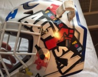 N.J. hockey goalie uses mask to spread message of autism awareness