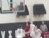 VIDEO: This buzzer beater hit every part of the rim before dropping