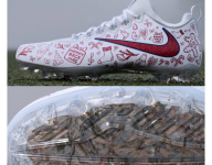Odell Beckham Jr.'s cleats tonight have grass from high school field inside of them