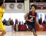 VIDEO: Nathan Hale's PJ Fuller hits long buzzer beater at Hoophall Classic