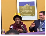Minnesota hoops lands four-star in-state pledge ... whose hair is too gloriously big for his hat