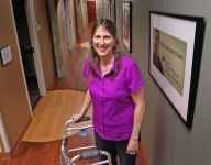 Badly injured in bike accident, Kokomo woman walks, dances and vows to ride again