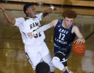 East Lansing fends off Holt, clinches CAAC Blue title