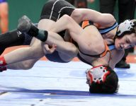Arlington's Robin, John Jay's Earl advance in state wrestling tourney