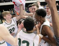 Lane leads Trojans past Muscatine in dominant substate final win