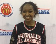 Deauzya 'DiDi' Richards receives McDonald's All American jersey on her birthday
