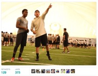 Johnny Manziel surfaced to coach at Elite 11 Camp in Miami