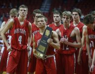 West Delaware holds off DCG's rally to make state semis