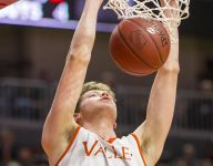 Valley one win from 4A title defense behind big man's big push