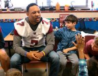 S.C. football players befriend bullied autistic second grader