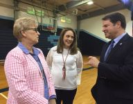 Airline's McConathy introduced at school