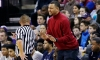 In this photo taken Feb. 8, 2017, Nathan Hale High School head coach and former NBA all-star Brandon Roy talks with an official during a Metro League basketball game, in Seattle. Roy's team features Michael Porter Jr., the nation's No. 1 high school recruit for the nation's No. 1 high school team. (AP Photo/Elaine Thompson)