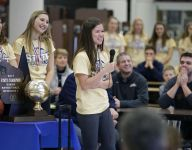 Appleton North celebrates basketball title