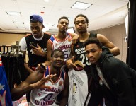 McDonald's All Americans display their rap skills