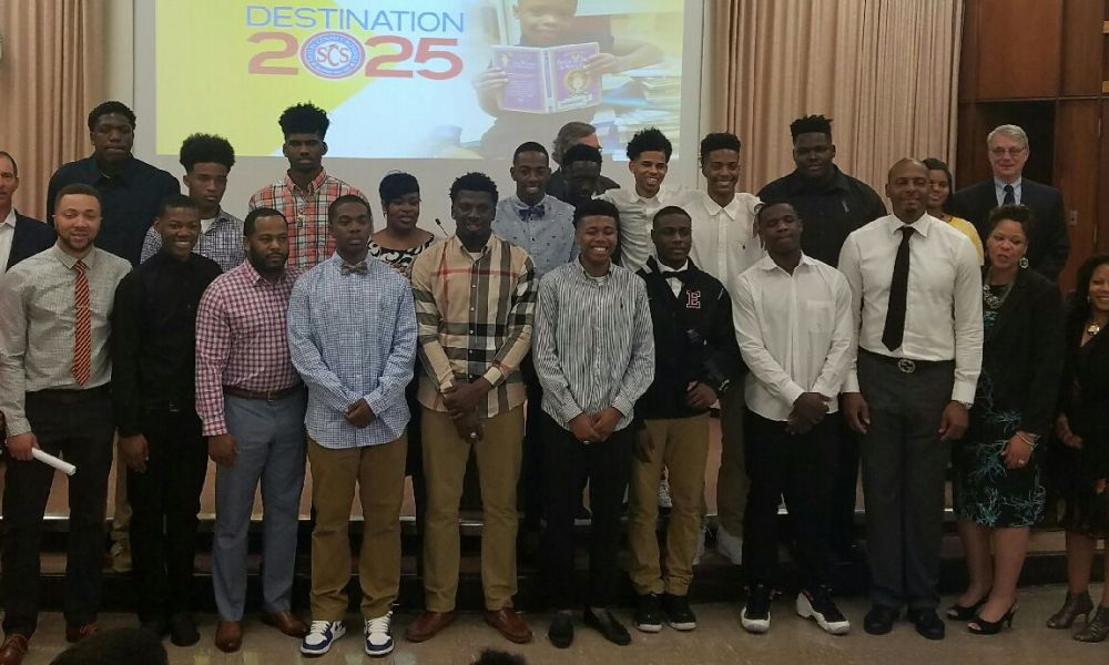 Memphis East players were told they would attend the DICK's Nationals tournament as spectators at a Shelby County School Board meeting on Tuesday night (Photo: Shelby County Schools contributor)