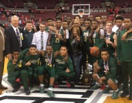 Alum LeBron James follows along as St. Vincent-St. Mary (Akron) wins seventh state title