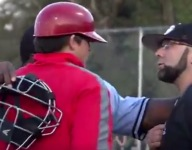 Lousiana baseball coach threatens to throw at an opposing player's head during ugly blowout