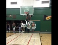 VIDEO: Player shatters backboard while practicing his dunks
