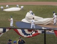 The weather has been so bad Indiana's defending state baseball champ has yet to play a home game
