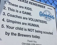 Little League sign reminds fans: 'These are kids. This is a game'
