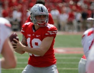 ALL-USA Offensive Player of the Year Tate Martell scores on first touch in Ohio State spring game
