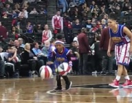 VIDEO: 7-year-old dribbling phenom puts on show with Harlem Globetrotters