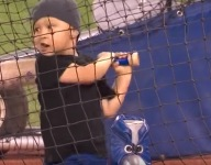 Troy Tulowitzki's 3-year-old walks clumsily but carries and swings a big stick