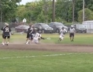 VIDEO: Sayville (N.Y.) lax star Jason Intermesoli scores wild no-look goal